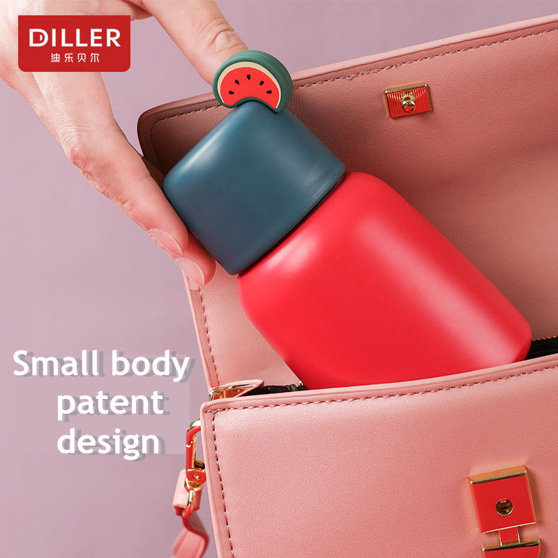 DILLER MLH8774 mini Thermos Double Layer 304L Stainless Steel Thermos Thermos Cup Coffee Tea Milk Travel Cup Kettle