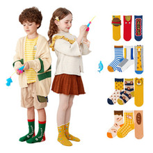 3 Pair/Lot New Winter Soft Cotton Children Socks Baby Boys And Girls Fashion Cartoon Pattern Kids Socks 19 Kinds Style