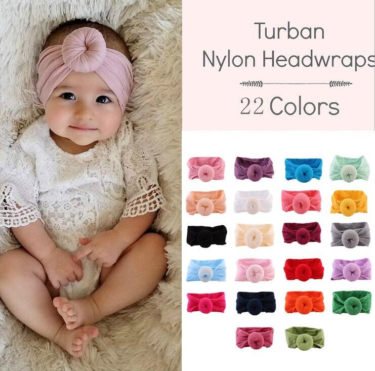 Украшение для детей, повязка на голову, повязка для малышей Одежда для новорожденных девочек тюрбан для младенцев Детские аксессуары Нейло...