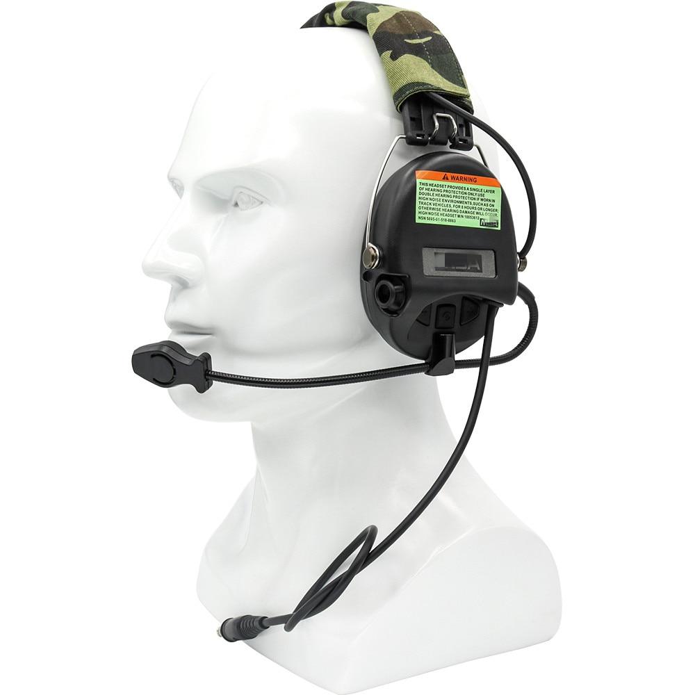 Купить с кэшбэком Electronic Sordin Tactical Headset Hunting Earmuffs Airsoft Military Standard Pickup noise reduction Shooting Headphone BK
