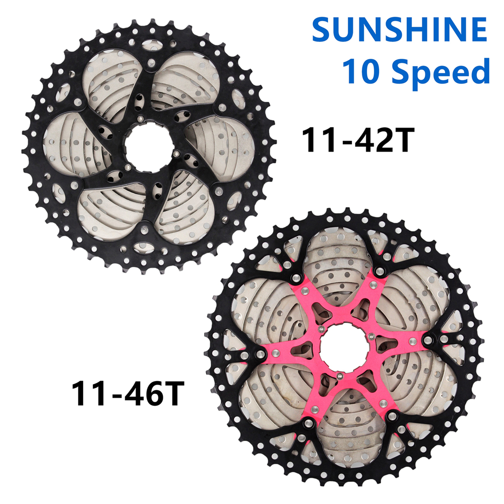SUNSHINE Cassette 11 12 SPEED 11-50T 11-46T 11-42T 10 Speed MTB Mountain Bike Cassette SUNSHINE Free wheel Compatible DEORE SRAM image