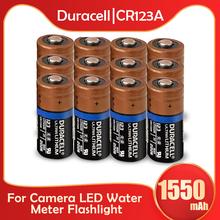 12 sztuk oryginalny Duracell CR123 CR123A CR17345 16340 1550mah 3V bateria litowa do aparatu miernik latarka sucha pierwsza bateria