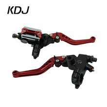 "A Pair 7/8"" 22mm Universal Motorcycle Brake Clutch Master Cylinder Lever Cable Clutch Reservoir For Scooter Sport Dirt Bike"