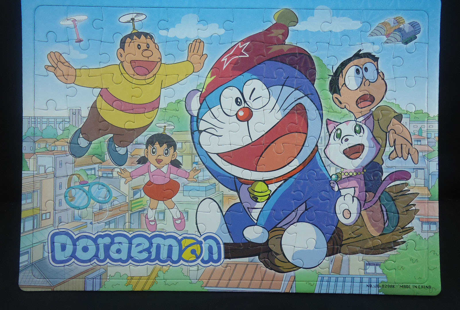 Jingle Cats Jigsaw Puzzle 96 Block Flat Jigsaw Puzzle Educational CHILDREN'S Toy Doraemon Large Jigsaw Puzzle Doraemon