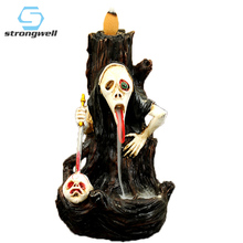 Strongwell Fearful Ghost Model Resin Censer Ornament Desktop  Home Decoration Accessorie Minimalist Kids Halloween Gifts