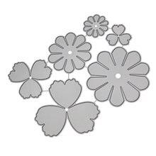 Металлические Вырубные штампы цветочное украшение для скрапбукинга