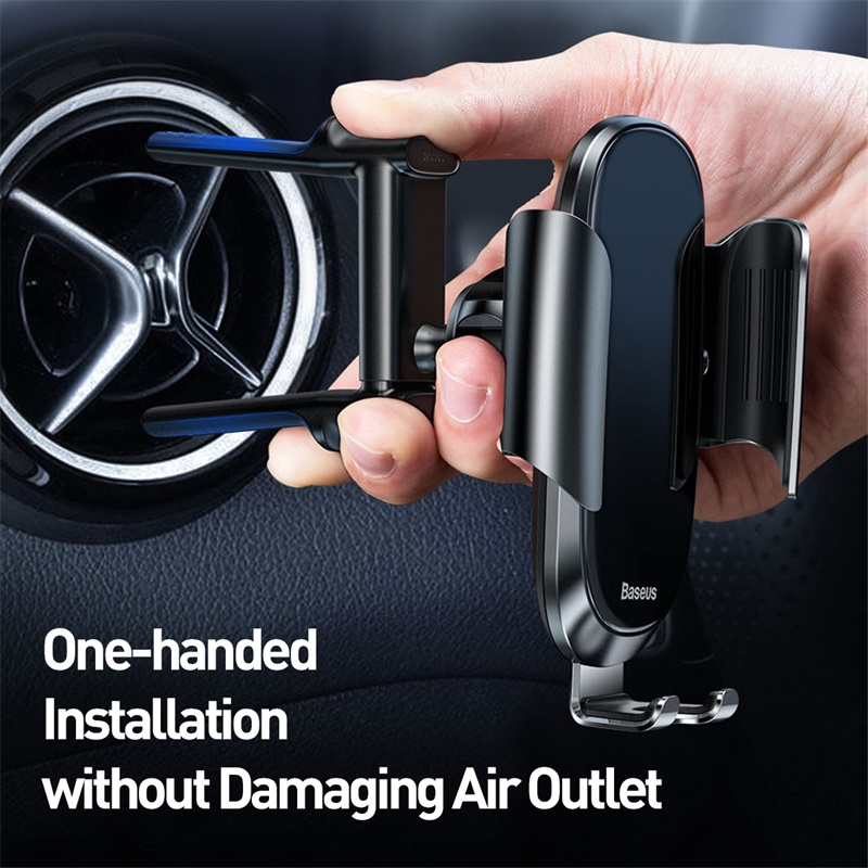 Baseus Car Phone Holder For IPhone XR Round Air Vent Mount Gravity Mobile Phone Holder Clip Cell Stand Support For Samsung