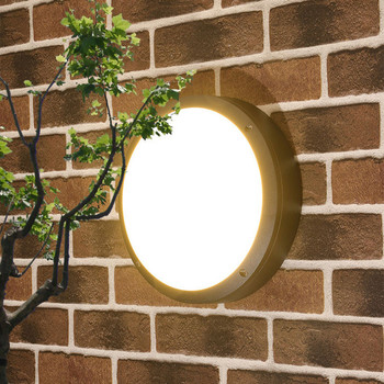 BEIAIDI 18W Outdoor Led Garden Porch Wall Light Waterproof Courtyard Aisle Balcony Wall Lamp Villa Hotel Exterior Wall Sconces