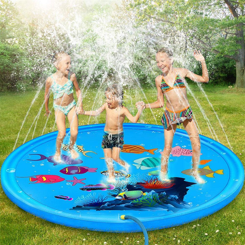 170cm Inflatable Kids Sprinkler Pad Mat Children Summer Outdoor Water Splash Play Mats Lawn Sprinkler Cushion Toy Fast Shipping