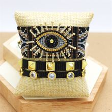 Zhongvi браслет для женщин Турецкий Дурной глаз браслеты miyuki