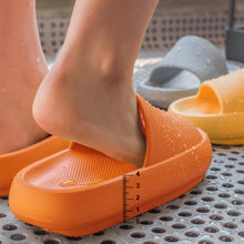Bathroom Non-slip Slippers Fashion Thick Sole Soft EVA Indoor Slide Sandals Casual Beach Unisex Platform Men Women Home Shoes