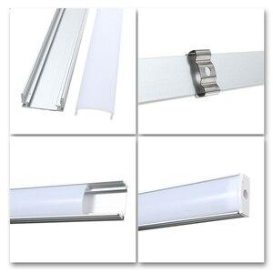 Image 4 - 30/45/50cm U/V/YW Stil Geformt LED Bar Lichter Aluminium Kanal Halter Milch abdeckung Ende Up für LED Streifen Licht Zubehör