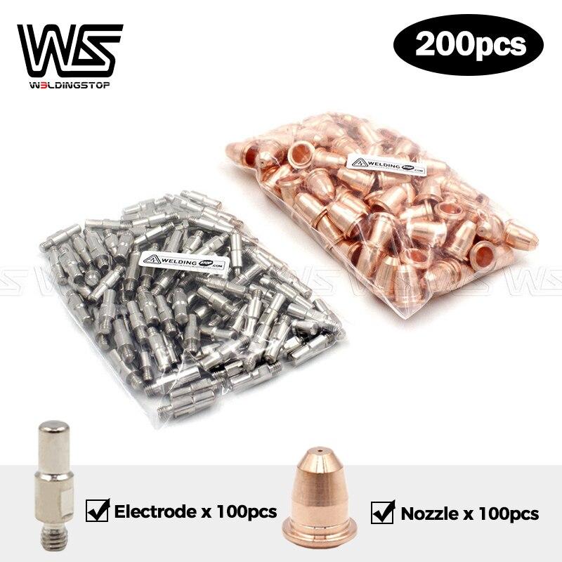 Electrodes PR0110  amp  Nozzle Tips PD0116-08 S25 S45 Plamsa cutter torch Trafimet Style 200pcs