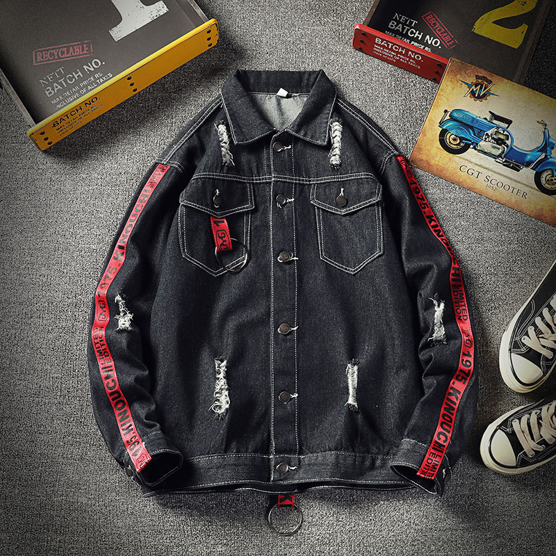 Men Jacket 2020 New Spring and Summer Men's Ripped Denim Jackets with Loose Denim Men Jackets