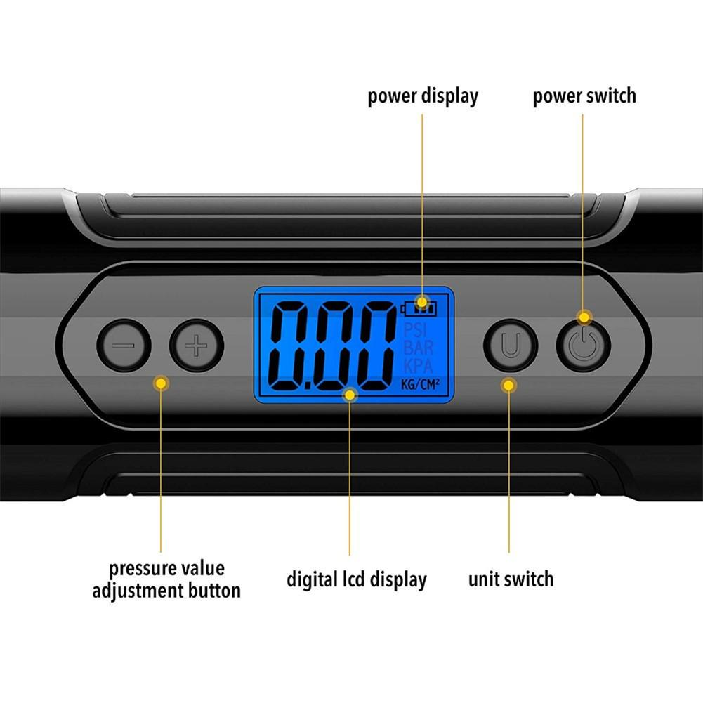 Portable Electric Air Pumps with USB Charger with LCD 3