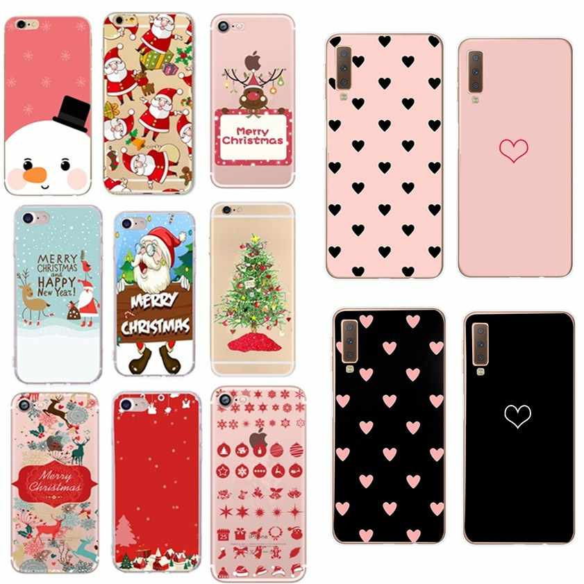 For Samsung A30 Case Protector For Samsung Galaxy A50 A70 A10 A20 A7 2018 Cover For Samsung A 30 A 50 70 20 2019 Case Christmas