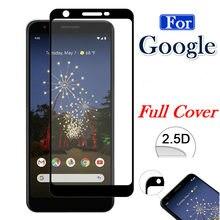 Tampa de Vidro Temperado Para Google Pixel completo 5 4 3lite 3A 3 XL 2XL 3XL 3axL Pixel2 Pixel3 Pixel4 Protetor de Tela Película Protetora