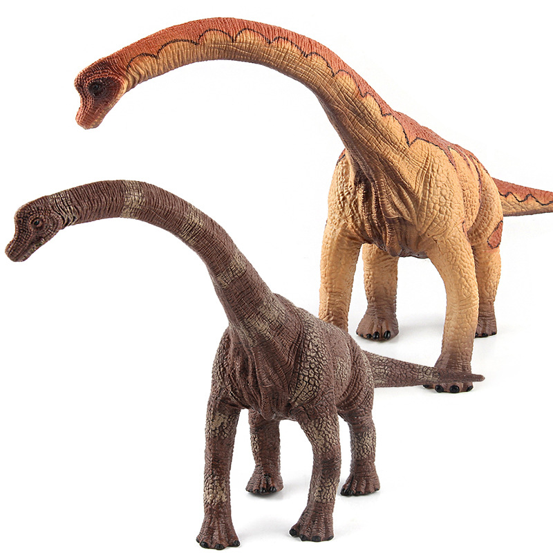 Big Jurassic <font><b>Dinosaur</b></font> Simulation <font><b>Toy</b></font> Brachiosaurus Soft PVC Figures Hand Painted Animal Model Collection <font><b>Toys</b></font> for Children Gift image