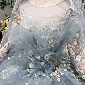 Image 5 - HTL908 الضوء الأزرق الكرة ثوب 2020 Quinceanera فستان بأكمام طويلة الكرة ثوب الحلو 16 فستان يزين فساتين لحضور الحفلات الموسيقية Vestidos