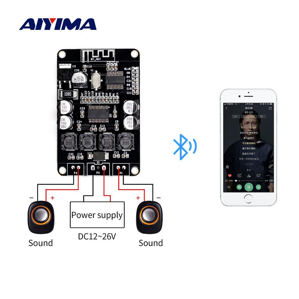 AIYIMA 2.0 Bluetooth Audio Power Amplifier Board TPA3110 Mini Amp 15Wx2 Stereo Digital Amplifier DIY Bluetooth Music Speaker