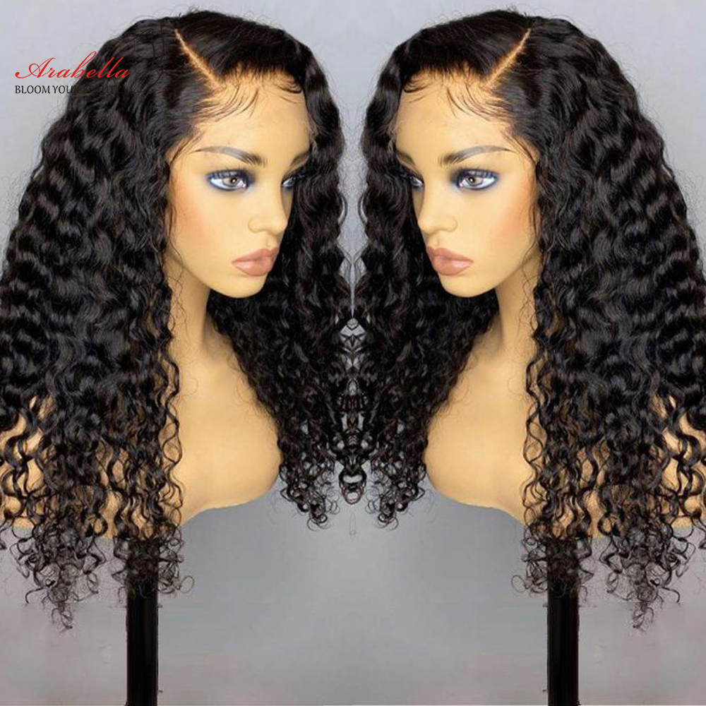 Deep Wave Lace Frontal Wig  Closure Wig Glueless 180 Density  Hair Lace Closure Wig With Baby Hair  2