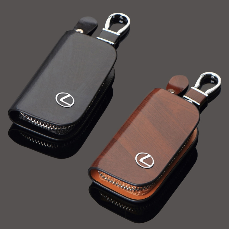 For Lexus IS250 IS300 ES250 ES350 GS350 CT200H RX350 NX200T IS NX ES Leather Car Styling Keycase Key Rings Bag Cover Accessories