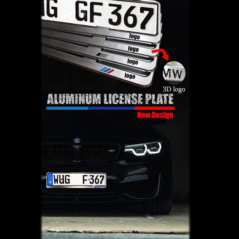 Metal Frame Steel Holder For European Euro License Plate Stainless New Mazda