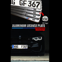 No rusty Aluminum Alloy License Plate Replacement cover with logo for Benz BMW AMG ///M Emblem EU German Russia license frame