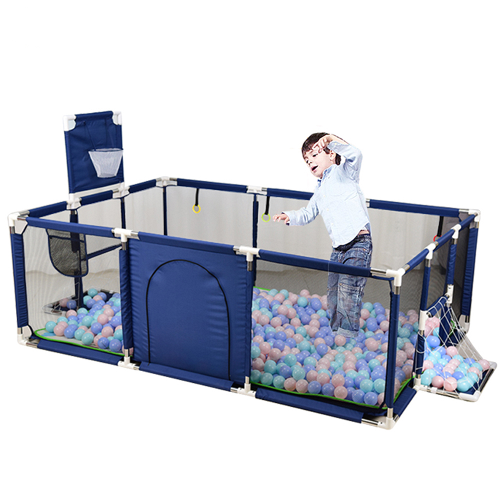 Baby Playpen PortableActivity Center Play Yard Infant Fence Indoor Basketball Safety Barrier Balls Pit Toy Crawling Playground