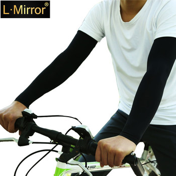 L.Mirror 1Pair UV Protection Cooling Arm Sleeves Sun  For Men & Women. Perfect  Cycling, Driving, Running
