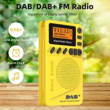 Digital & FM Radio Persönliche Tragbare Tasche Handheld Digitale Radio Wecker SD Karte MP3 Player Gebaut-in Rechargea(China)