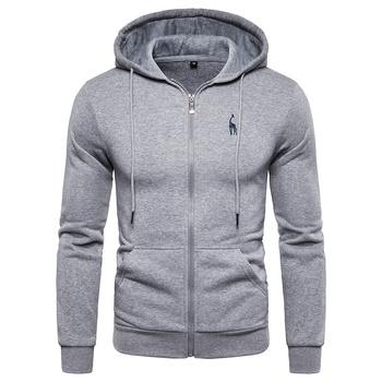 2019 nowa jesienno-zimowa bawełna z kapturem męskie bluzy jednolita bluza z kapturem polarowe grube bluzy mężczyźni odzież sportowa bluzy z zamkiem mężczyźni tanie i dobre opinie NEGIZBER CN (pochodzenie) Pełna Na co dzień Stałe REGULAR HD02 zipper COTTON Poliester NONE cotton hoodies hoodies men