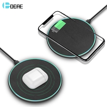 DCAE Qi Wireless Charger For iPhone 8 X XS Max XR 11 Airpods 10W Quick Charge for Samsung S8 S9 S10 Note 10 9 Fast Charging Pad