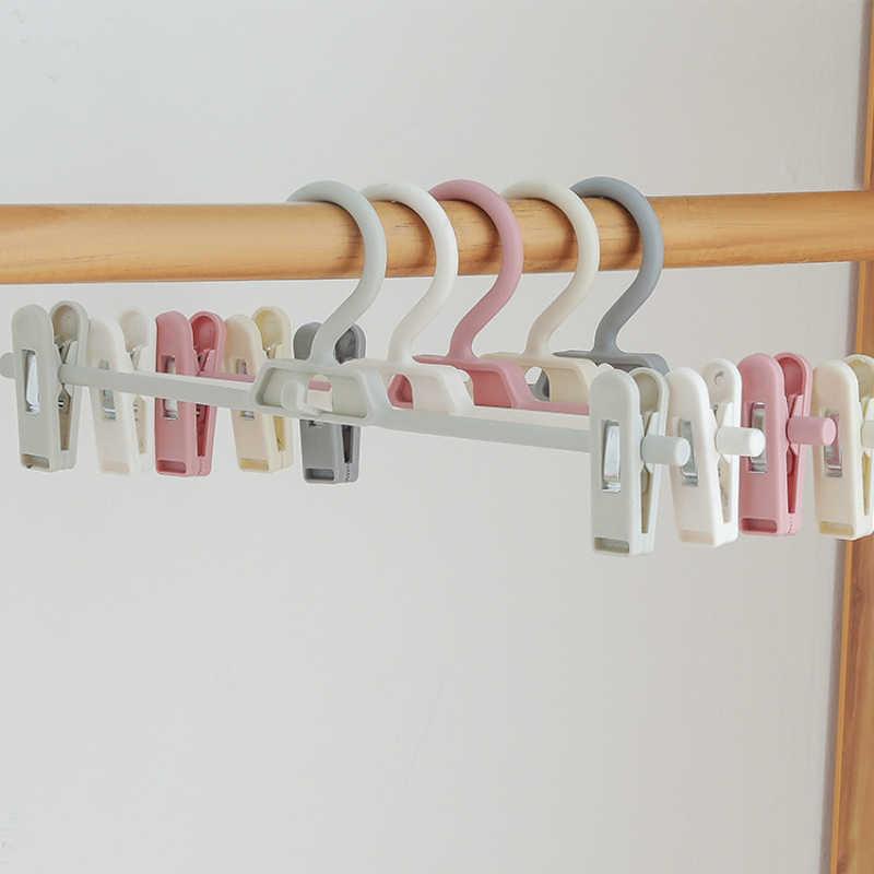 الإبداعية الكبار قابل للسحب التراص شماعات للبنطلونات للملابس حمالة تعليق جدارية السراويل البلاستيكية مجلد شماعات ملابس الصدرية 34*14*2.8 سنتيمتر
