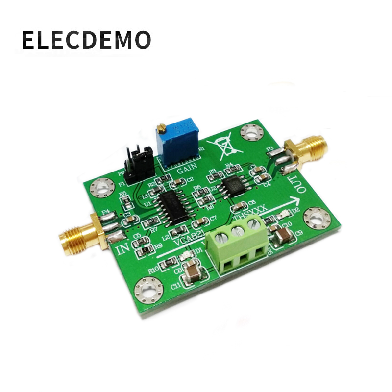 VCA821 Module Adjustable Gain Amplifier THS3201 200M Bandwidth 40dB Gain Output with Load-in Demo Board Accessories from Computer & Office