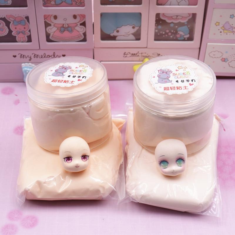 100g Professional Ultra-light Clay Soft Clay DIY Doll Mud Dry Polymer Doll Skin Plasticine Safety Sculpture Clay