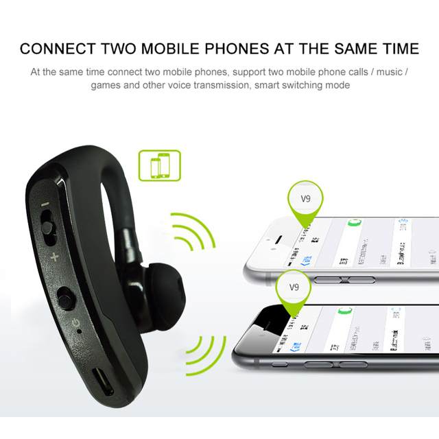 Headphone V9 Bluetooth-compatible Earphone Hands-free Wireless Headset Noise Control With Microphone High Quality Stereo Audio 5