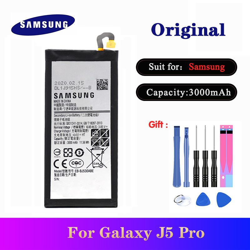 Newest Orginal Battery EB-BJ530ABE For <font><b>Samsung</b></font> Galaxy <font><b>J5</b></font> Pro 2017 J530 SM-J530K SM-J530F SM-J530Y J530G Phone <font><b>Bateria</b></font> 3000mAh image