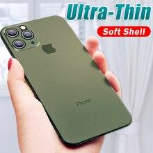 Роскошный противоударный 0,3 мм ультра тонкий чехол для iphone 11 Pro X XS XR Max матовый чехол из ТПУ для iphone 8 7 6 6s Plus Мягкий чехол