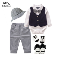 Toddler Baby Boys clothing Set Kids long sleeve cotton Clothes set 5pcs Outfits newborn rompers 2019 new dress 1 3 year
