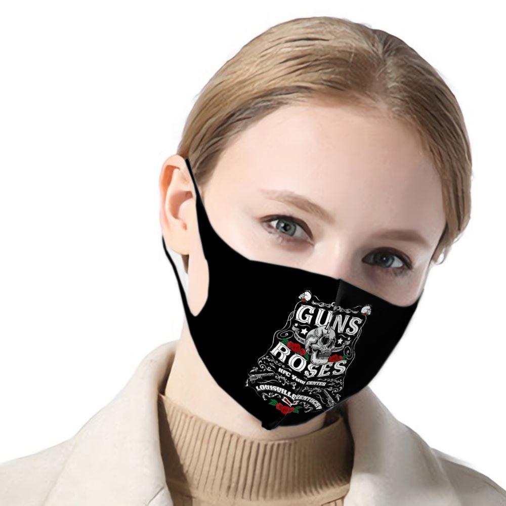 Guns N Roses Poster Female/male 3d Print Mouth Mask Guns N Roses Dust-proof  Mouth Mask Funny Ladies/mens Mask