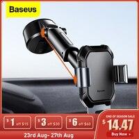 Baseus-Soporte de teléfono para coche Gravity, soporte Universal ajustable con ventosa para iPhone 12 Pro Max Xiaomi POCO