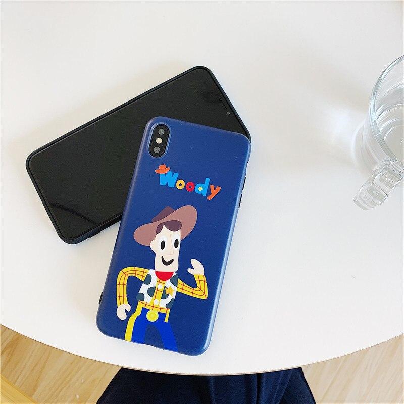 Anwendbar Cartoon Spielzeug Geschichte 8plus Telefon Fall für Apple Xs MAX/XR Alle Kanten Enthalten Shatter-beständig weiche Abdeckung Liebe