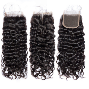 Image 4 - Jaycee Brazilian Water Wave Bundles With Closure Wet And Wavy Human Hair Bundles With Closure 3 Bundles With Closure Hair Weave