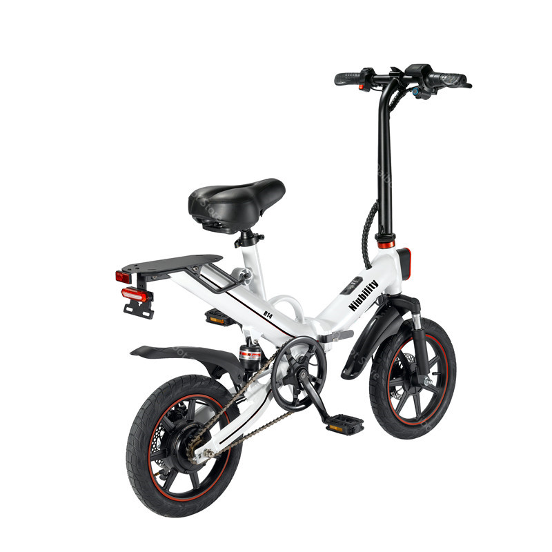 EU Stock Folding Electric bike 2 Wheels Electric Bicycles 14 Inch 400W 48V 15Ah Adult Electric Bicycle With Double Brake (4)