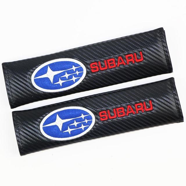 2 uds. Funda protectora de algodón de fibra de carbono para Subaru Impreza Forester Tribeca 15 BRZ accesorios de diseño de coche
