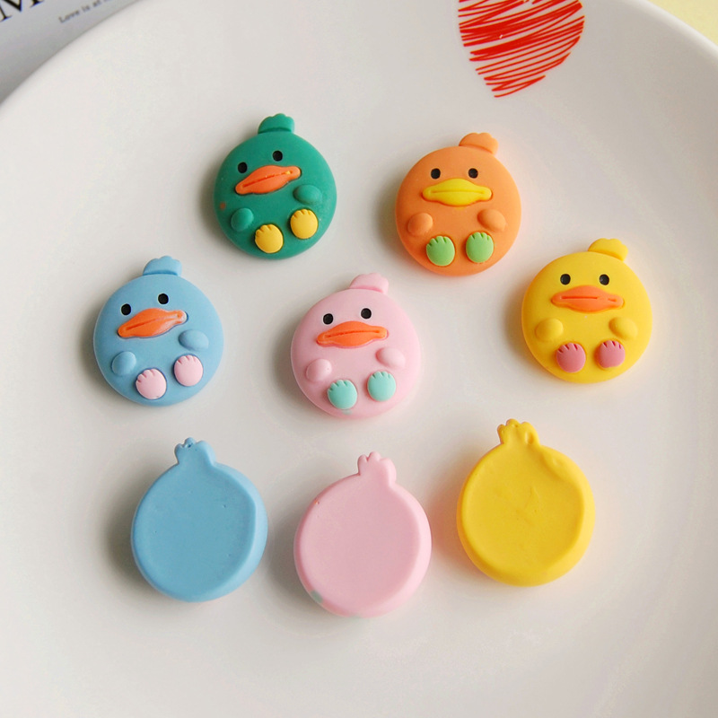 20Pcs New 2020 Kawaii Duck Resin Decoration Crafts Flatback Cabochon Scrapbooking Fit Phone Embellishments Diy Accessories
