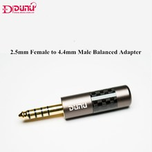 DUNU 2.5mm żeńskie do 4.4mm męskie zbalansowane Adapter High Fidelity słuchawki zrównoważony interfejs wtyk Audio 4.4mm do 2.5mm