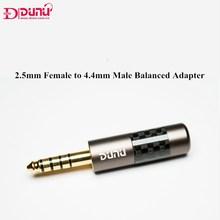 DUNU 2.5mm femmina a 4.4mm maschio adattatore bilanciato auricolare ad alta fedeltà interfaccia bilanciata spina Audio da 4.4mm a 2.5mm