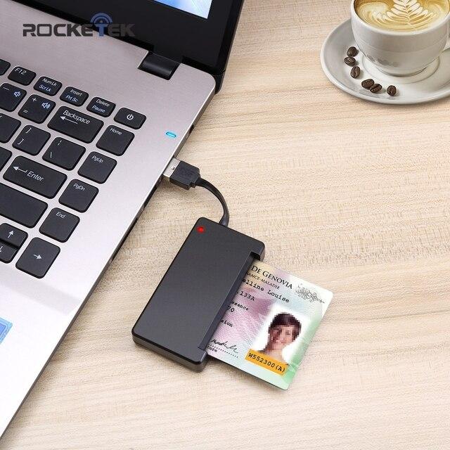 Rocketek USB 2.0 Lettore di Smart Card CAC ID, carta di Credito, sim card cloner connettore lettore di schede adattatore del computer pc del computer portatile accessori